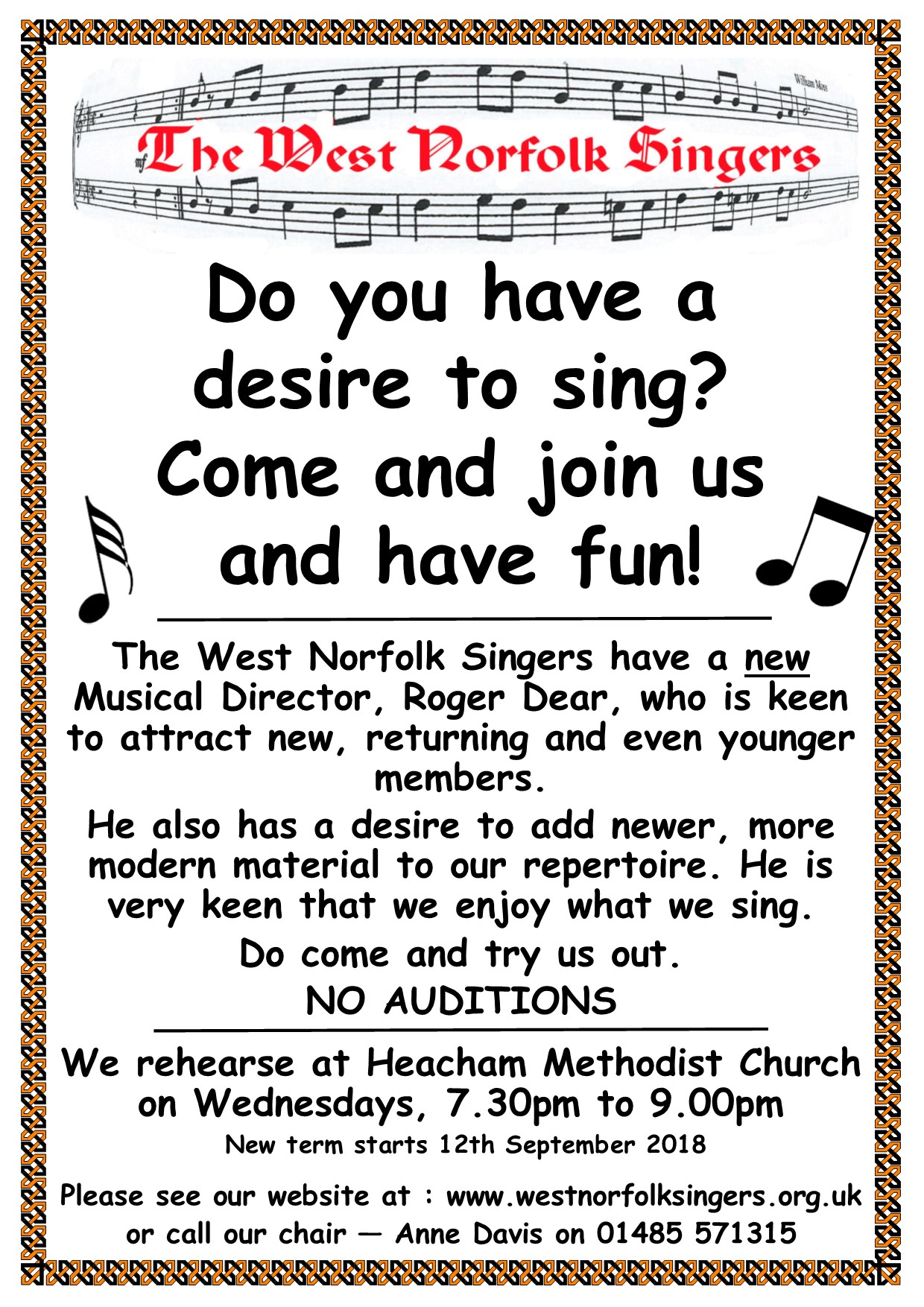 New Singers Appeal poster